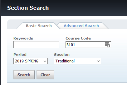 Section Search