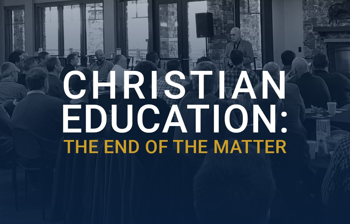 Christian Education: The End of the Matter image