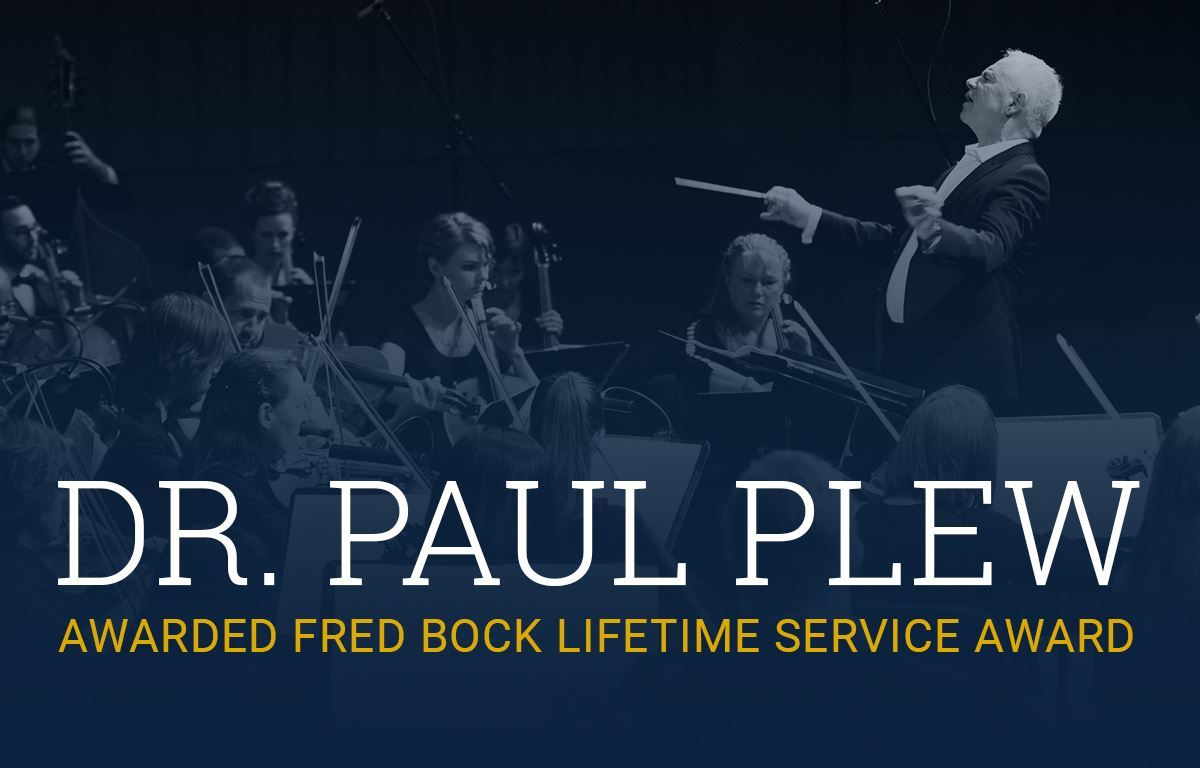 Dr. Paul Plew Awarded the Fred Bock Lifetime Service Award image
