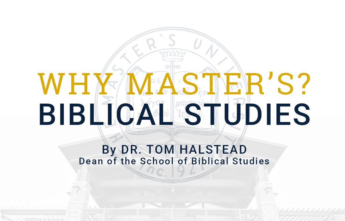 Why Study Bible at The Master's University? image